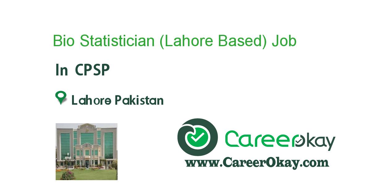 Bio Statistician (Lahore Based)