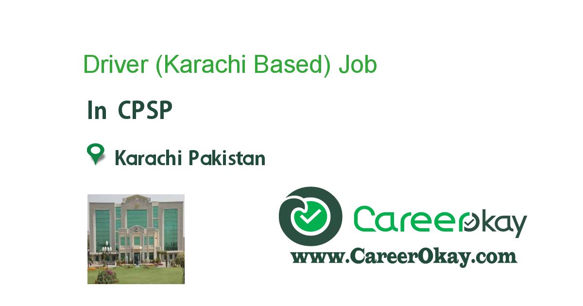 Driver (Karachi Based)
