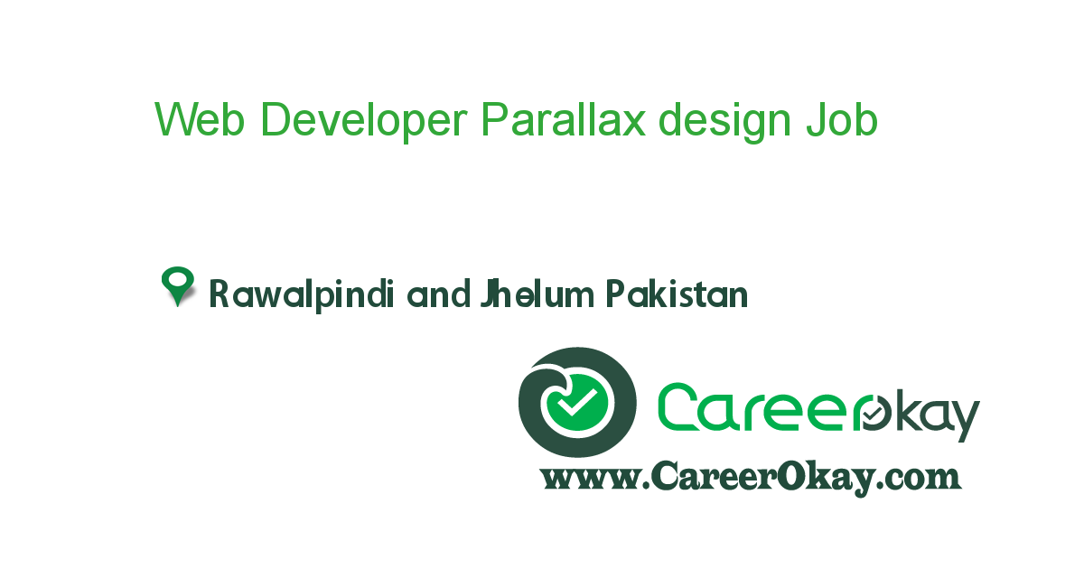 Web Developer Parallax design