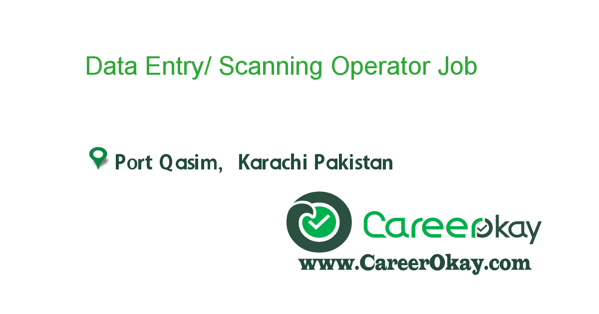 Data Entry/ Scanning Operator