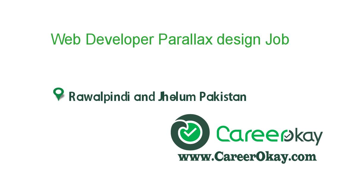 Web Developer Parallax design
