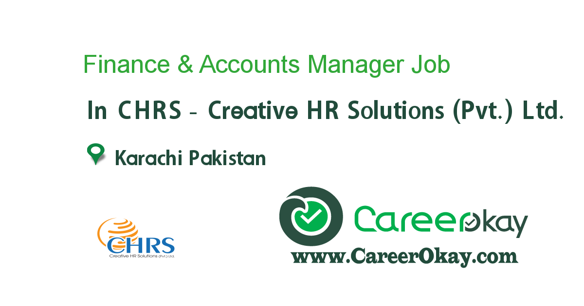 Finance & Accounts Manager