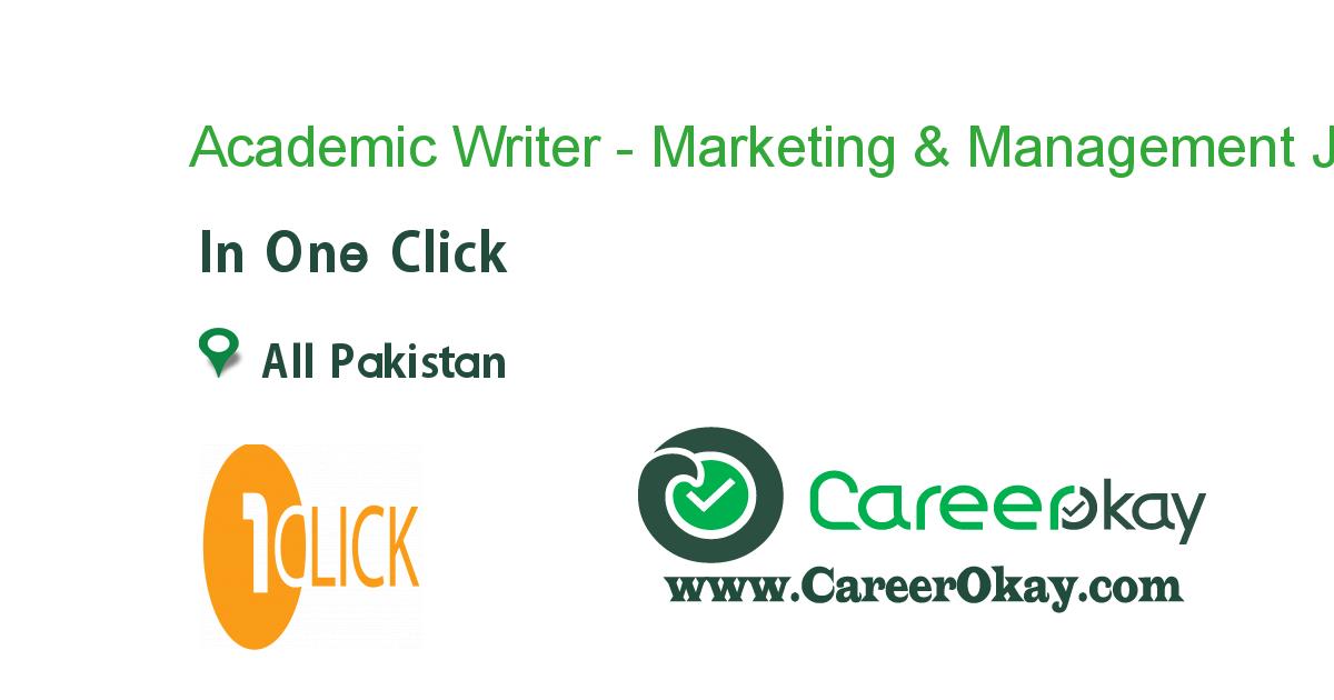 Academic Writer - Marketing & Management