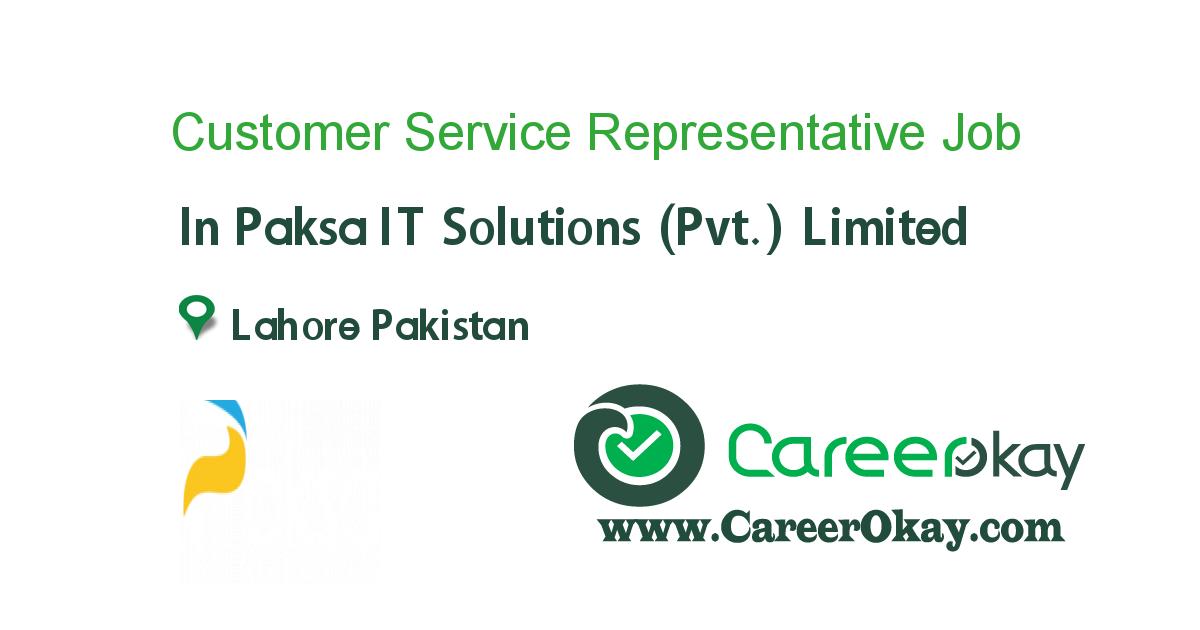 Customer Service Representative