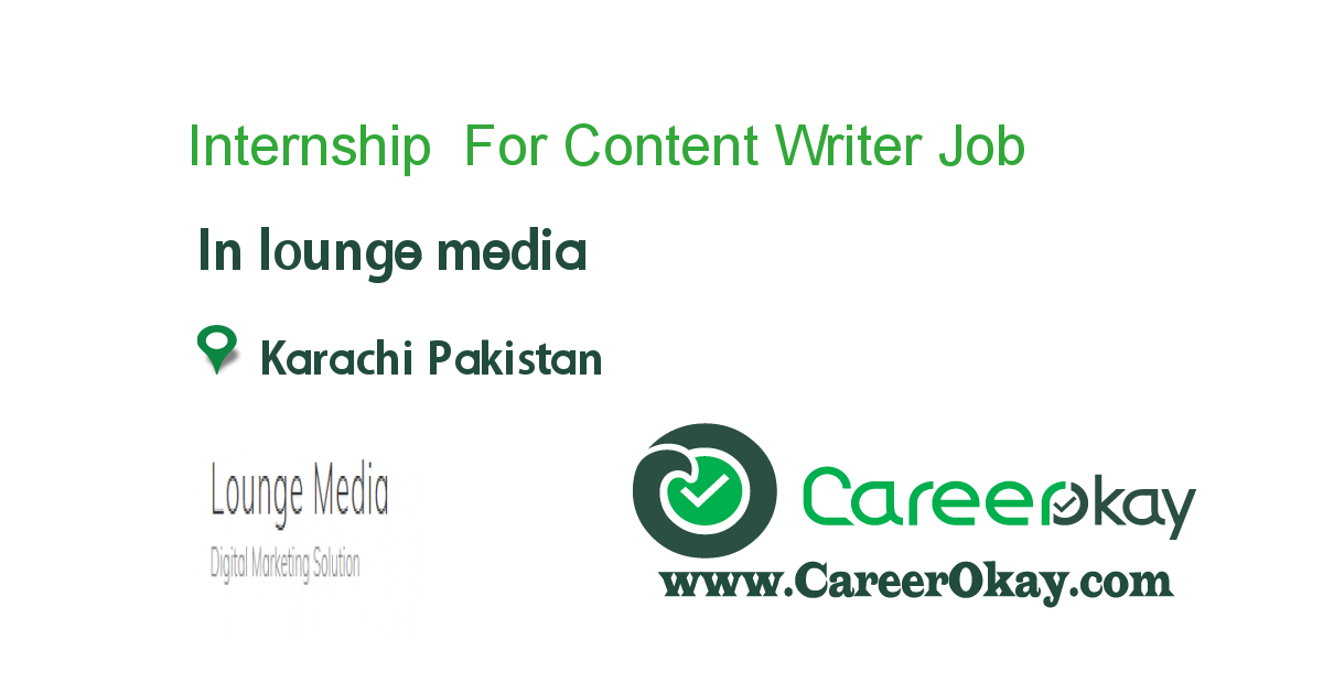 Internship For Content Writer
