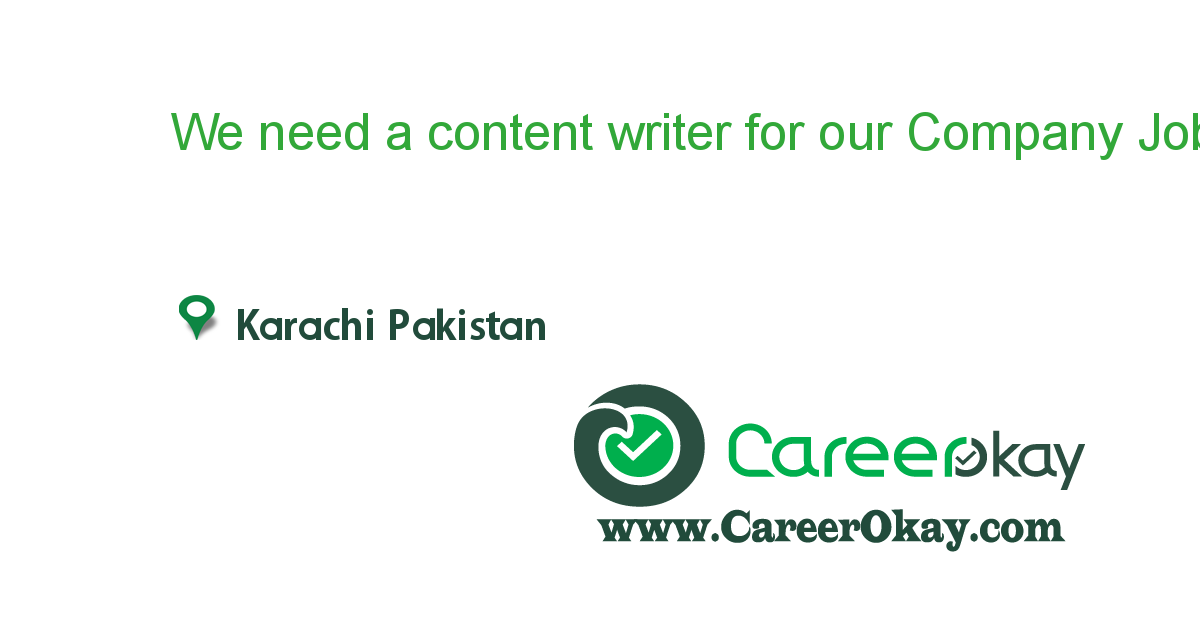 SEO & Content Writer Required
