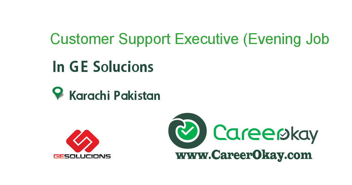 Customer Support Executive (Evening shift)