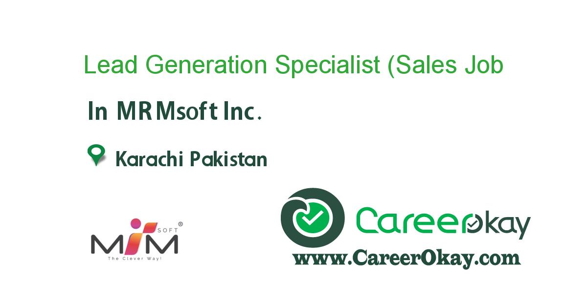 Lead Generation Specialist (Sales Executive)