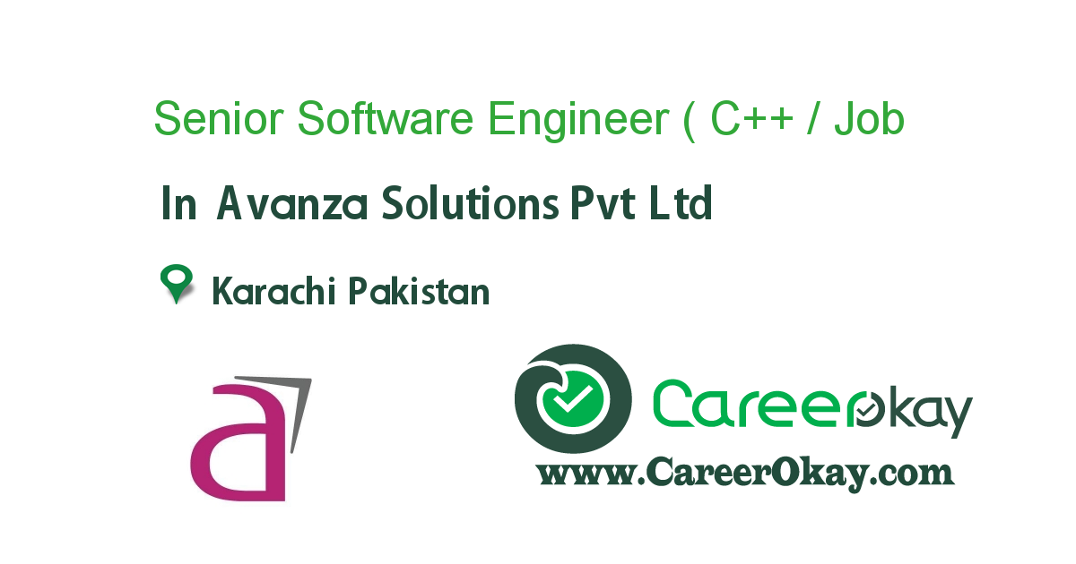 Senior Software Engineer ( C++ / Cplusplus )