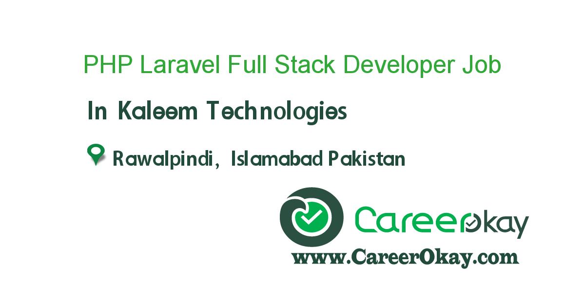 PHP Laravel Full Stack Developer