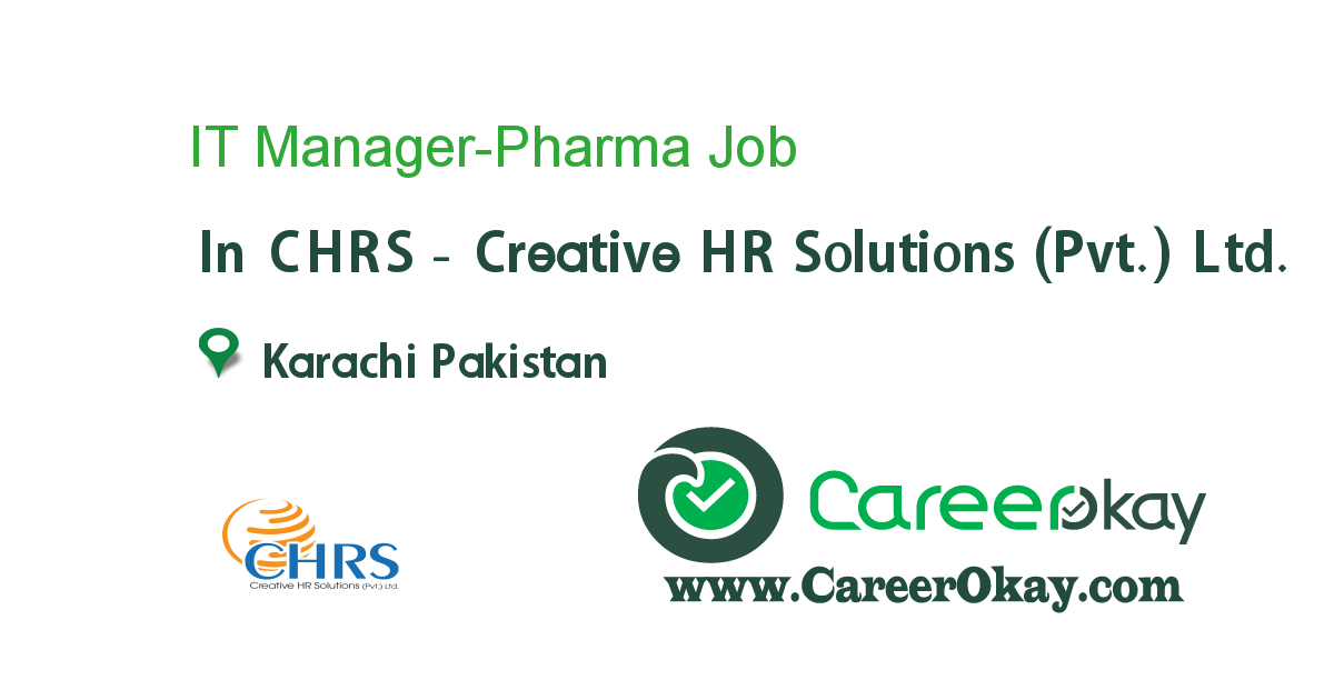 IT Manager-Pharma