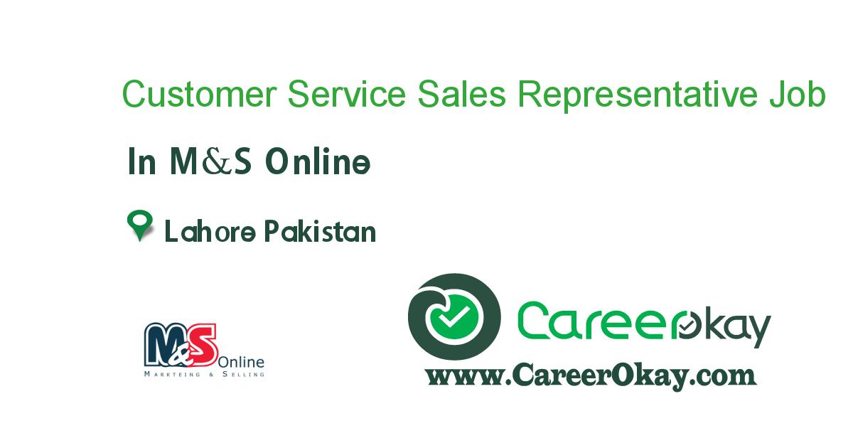 Customer Service Sales Representative