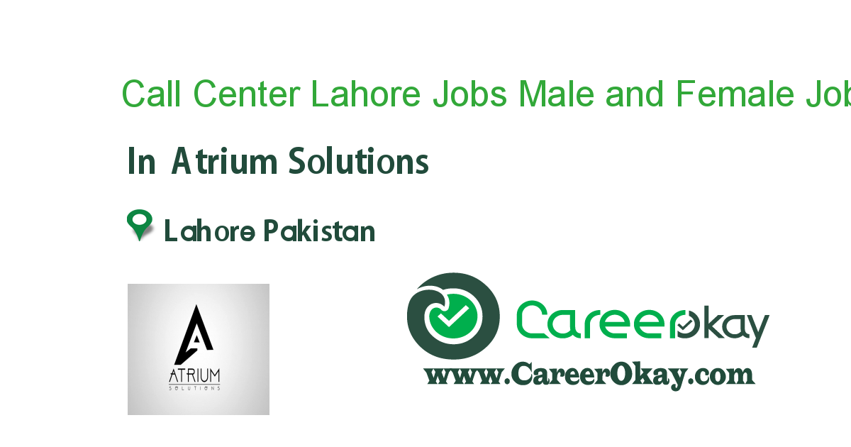 Call Center Lahore Jobs Male and Female Students