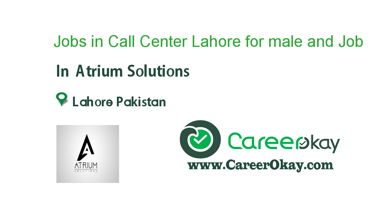 Jobs in Call Center Lahore for male and female Students