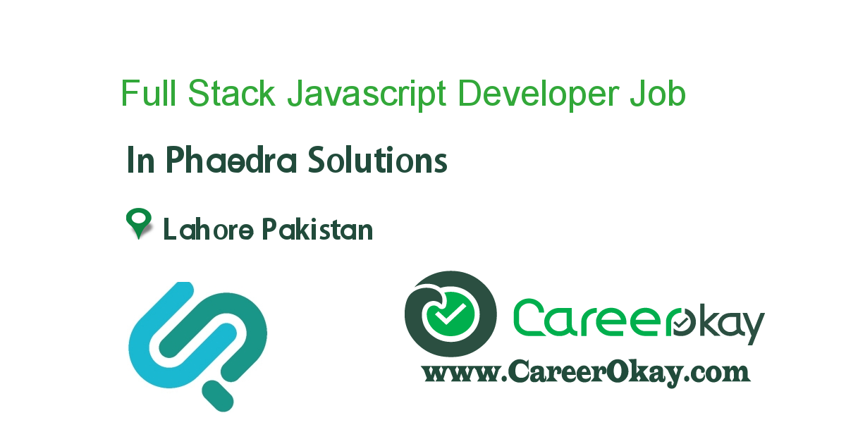 Full Stack Javascript Developer (MEAN/MERN)
