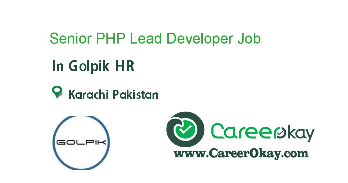 Senior PHP Lead Developer