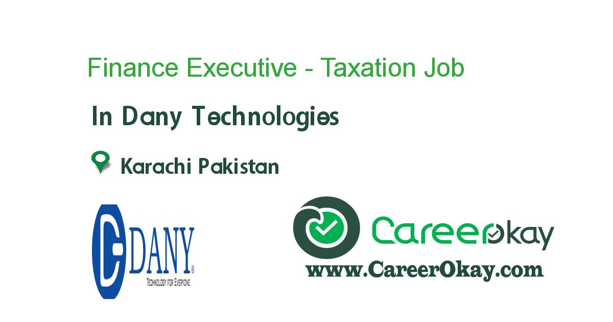Finance Executive - Taxation