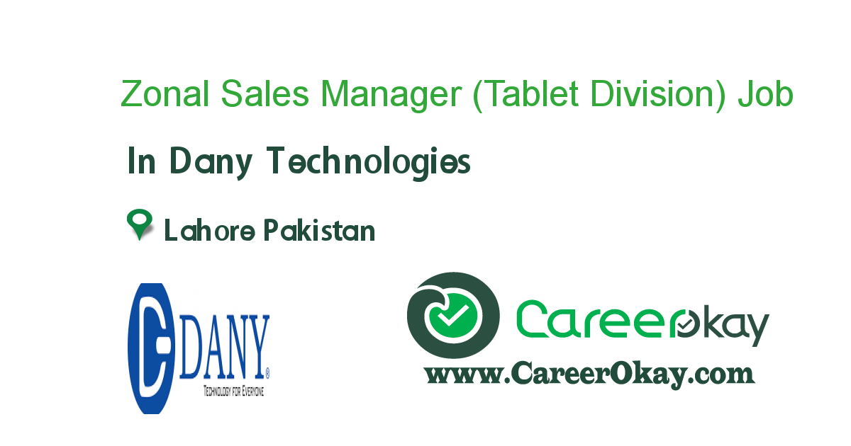 Zonal Sales Manager (Tablet Division)