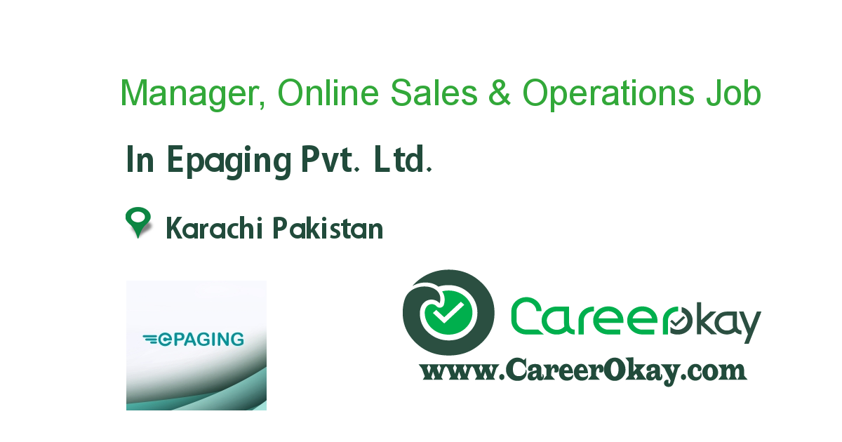 Manager, Online Sales & Operations