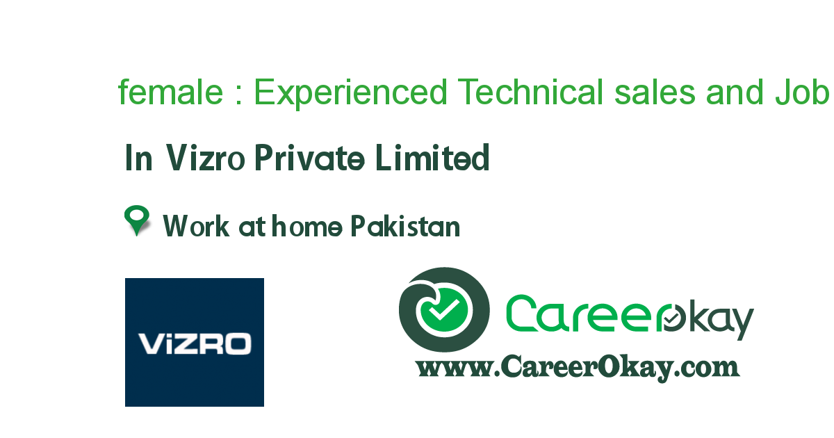 Experienced Technical Sales and Marketing Persons
