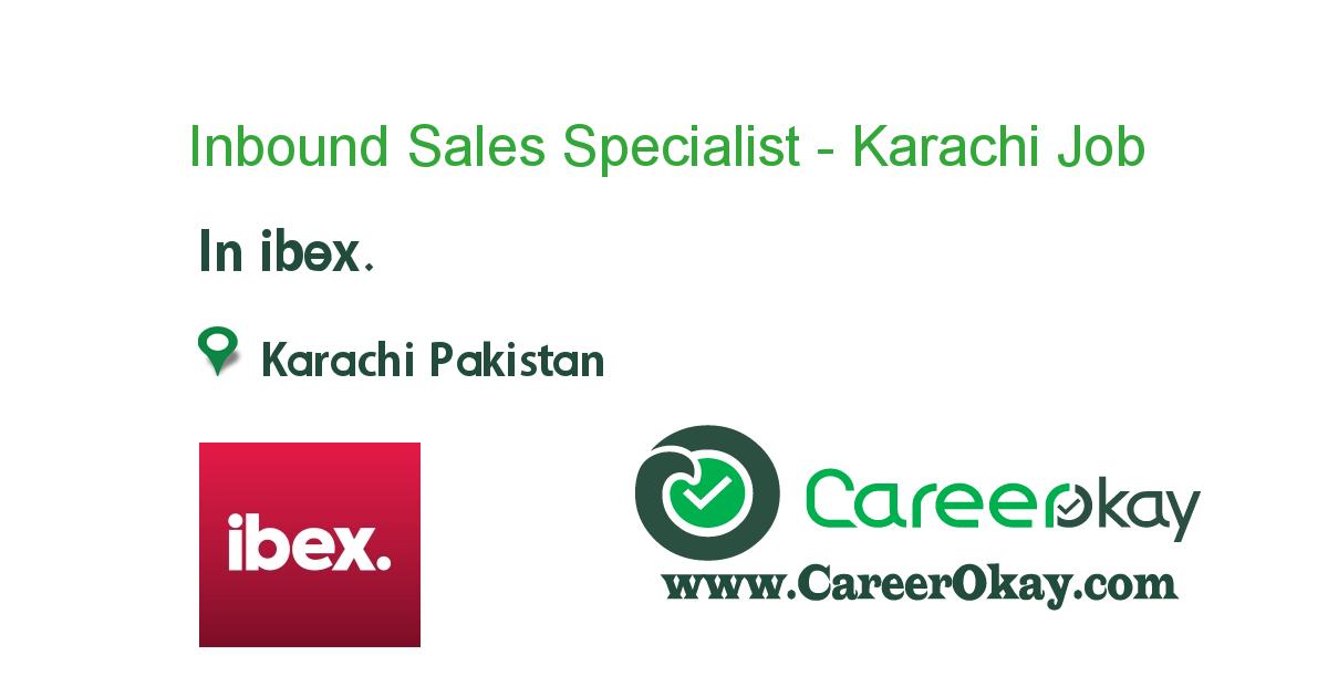 Inbound Sales Specialist - Karachi