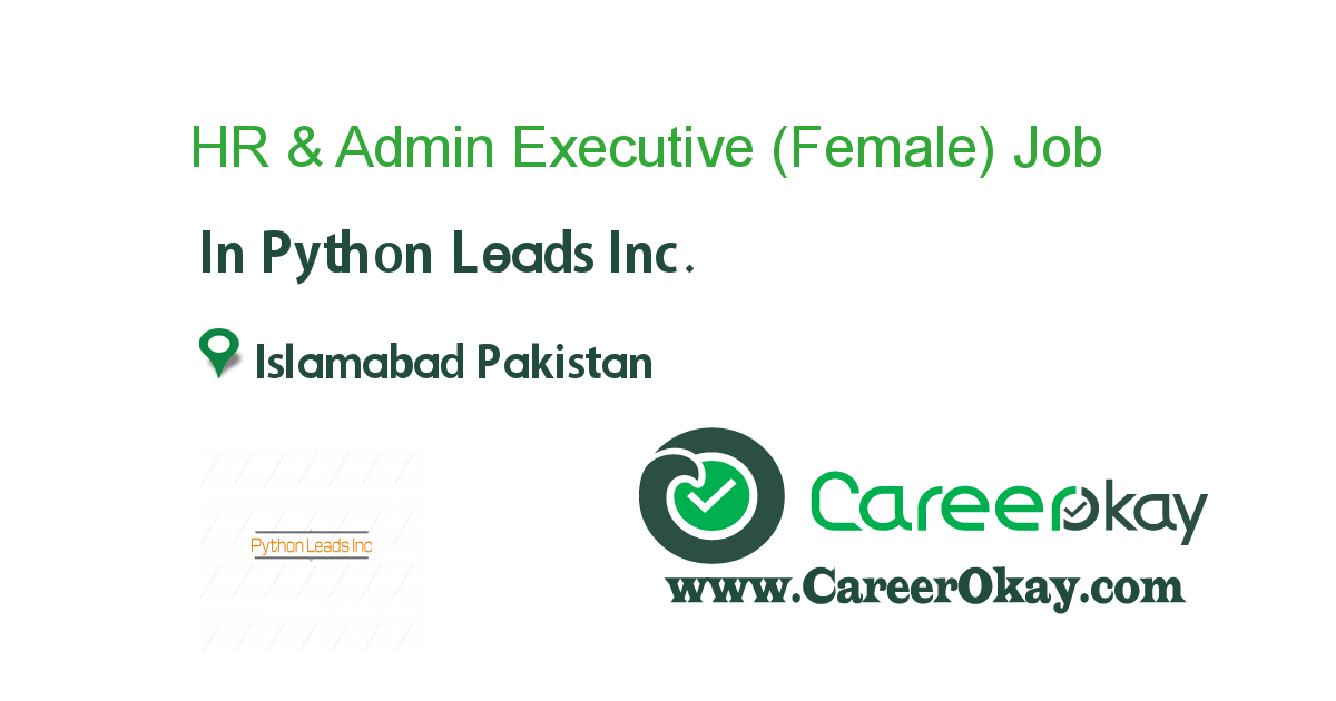 HR & Admin Executive (Female)