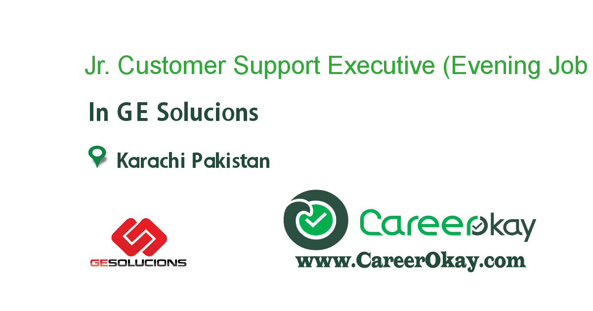 Jr. Customer Support Executive (Evening Shift)
