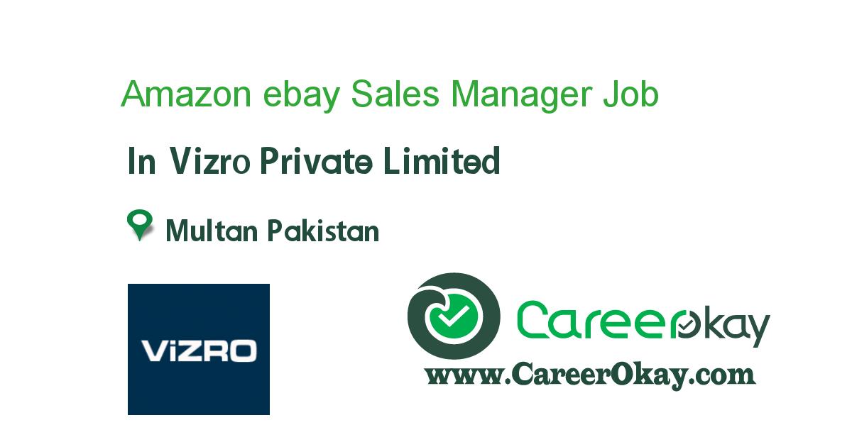Amazon ebay Sales Manager