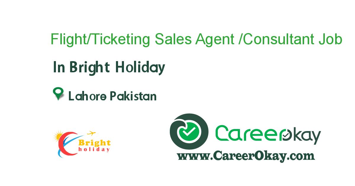 Flight/Ticketing Sales Agent /Consultant