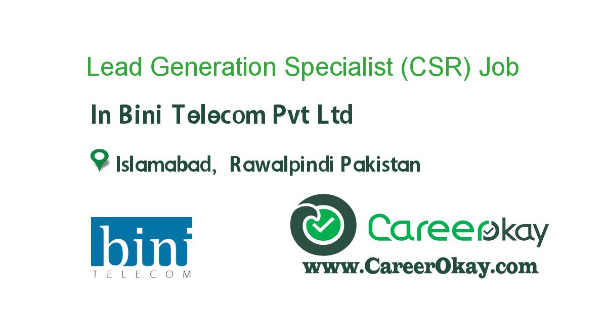 Lead Generation Specialist (CSR)