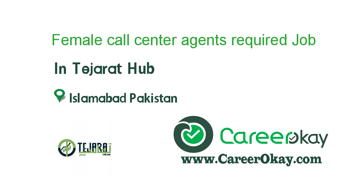 Female call center agents required morning shift