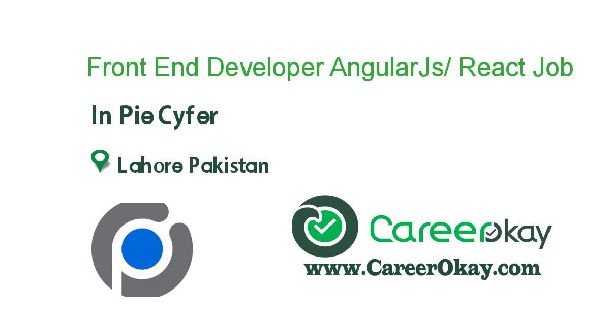 Front End Developer AngularJs/ React