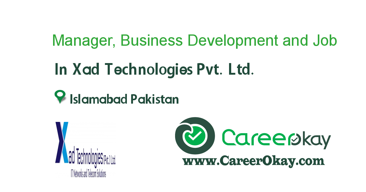 Manager, Business Development and Research Analyst