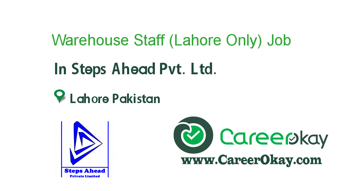 Warehouse Staff (Lahore Only)