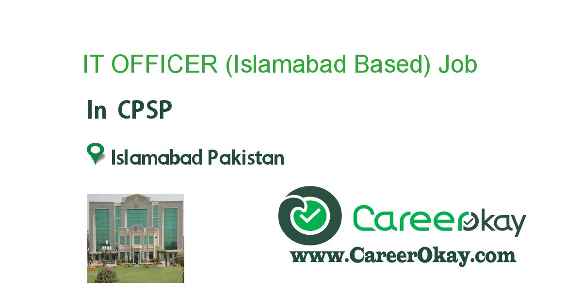 IT OFFICER (Islamabad Based)