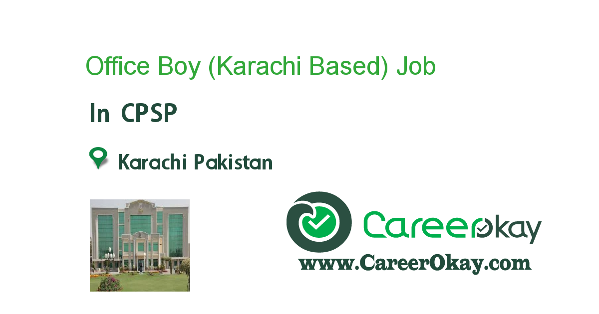 Office Boy (Karachi Based)