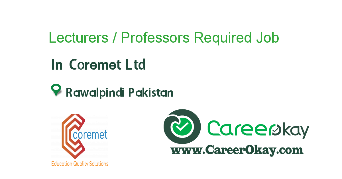 Lecturers / Professors Required