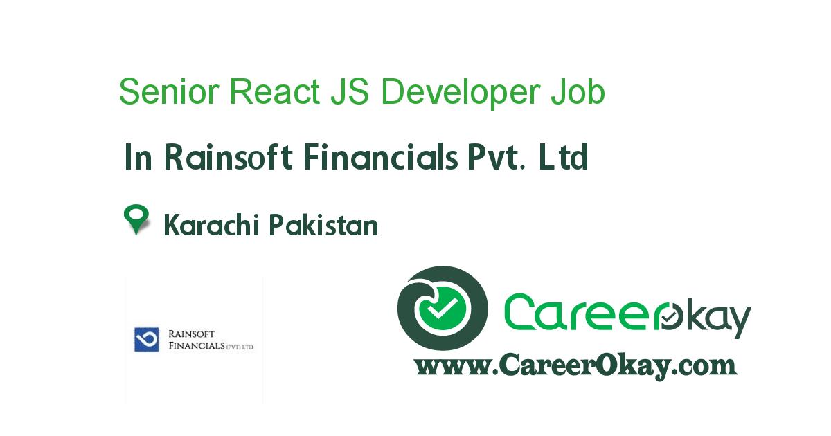 Senior React JS Developer