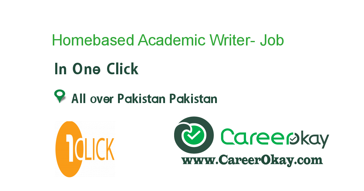 Homebased Academic Writer- Finance/Accounts
