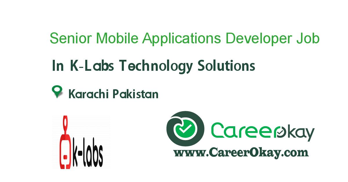 Senior Mobile Applications Developer