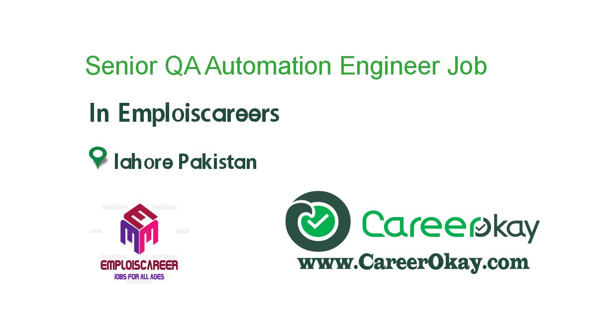 Senior QA Automation Engineer