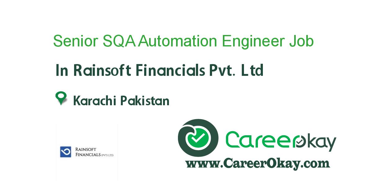 Senior SQA Automation Engineer