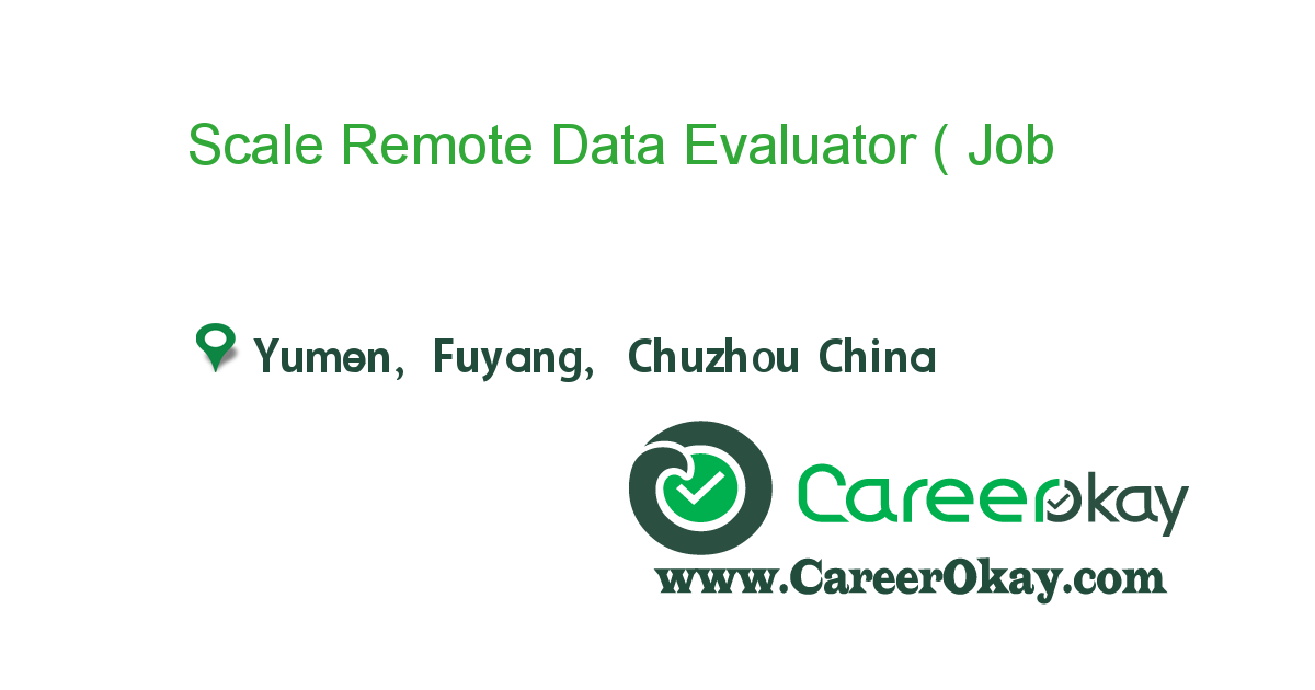 Scale Remote Data Evaluator ( Traditional Chinese/English )