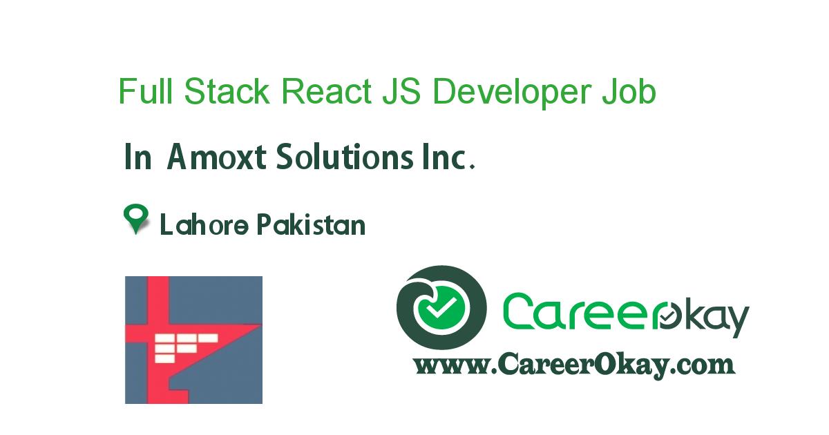Full Stack React JS Developer