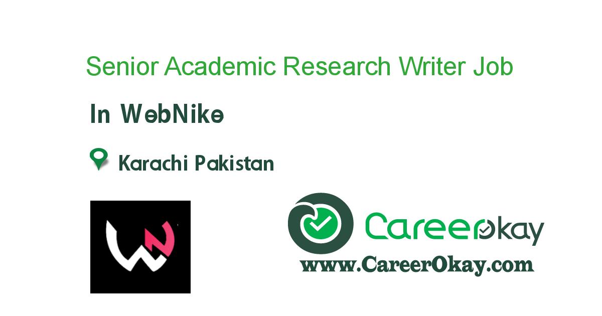 Senior Academic Research Writer