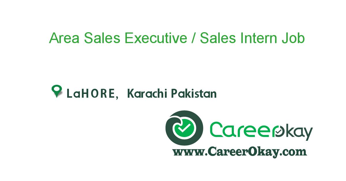 Area Sales Executive / Sales Intern