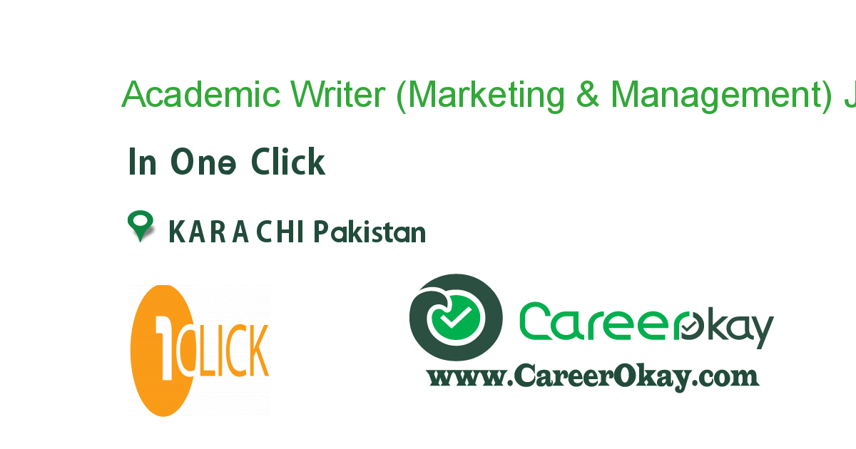 Academic Writer (Marketing & Management)