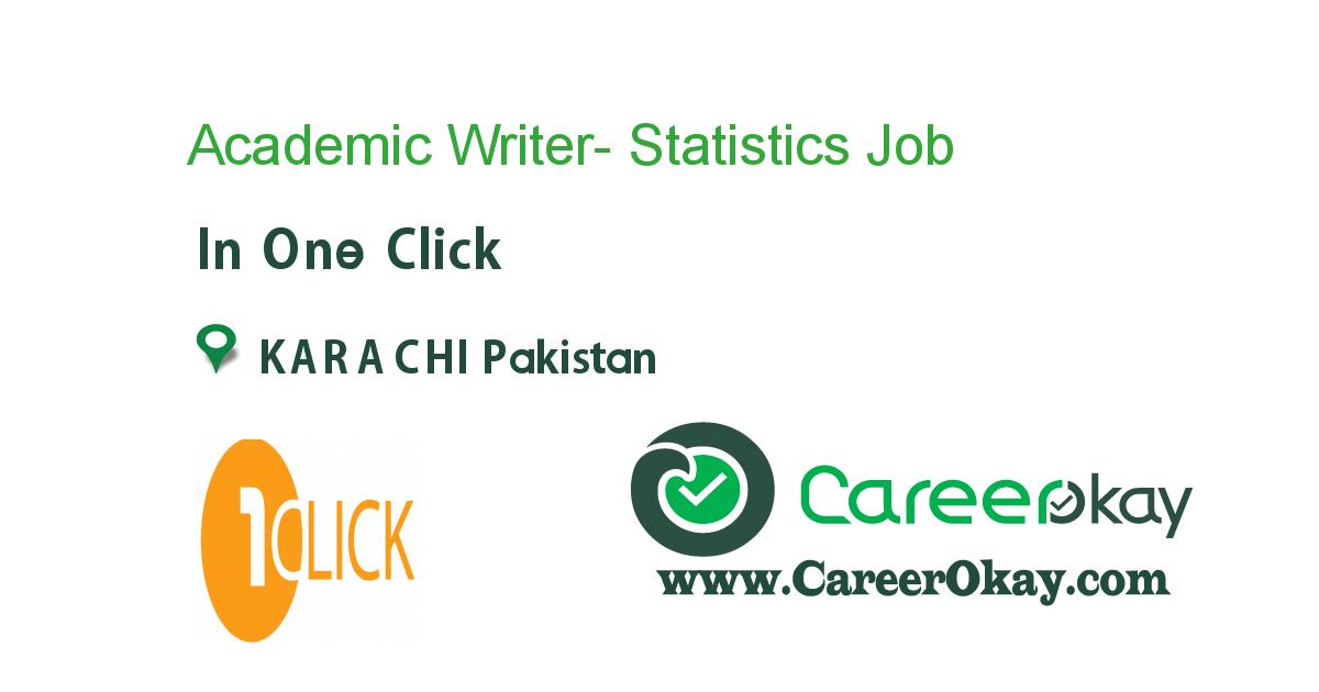 Academic Writer- Statistics